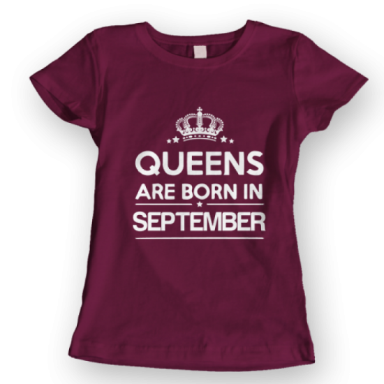 Тениска с щампа Queens September 2