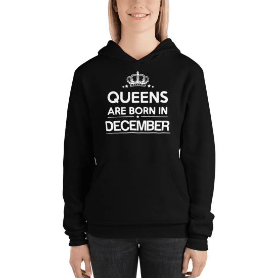 Суичър с щампа Queens are born in December