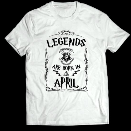 Тениска с щампа Legends April HP