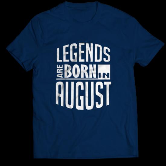 Тениска с щампа Legends August