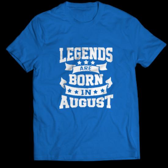 Тениска с щампа Legends August 2
