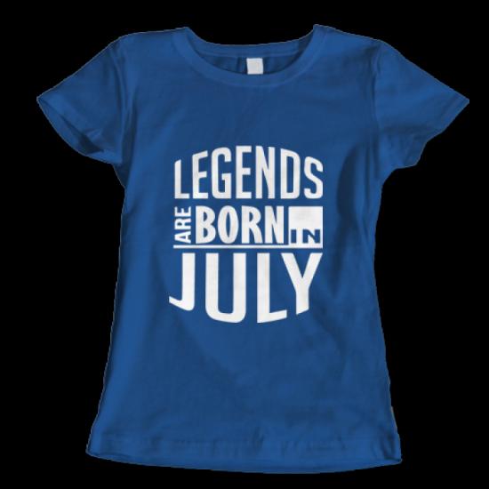 Тениска с щампа Legends July