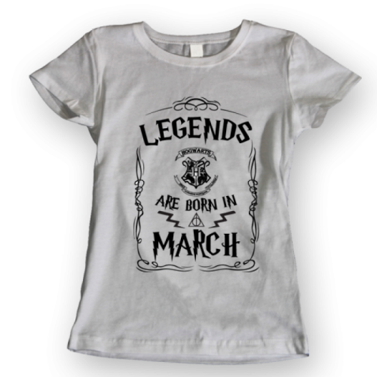 Тениска с щампа Legends March HP
