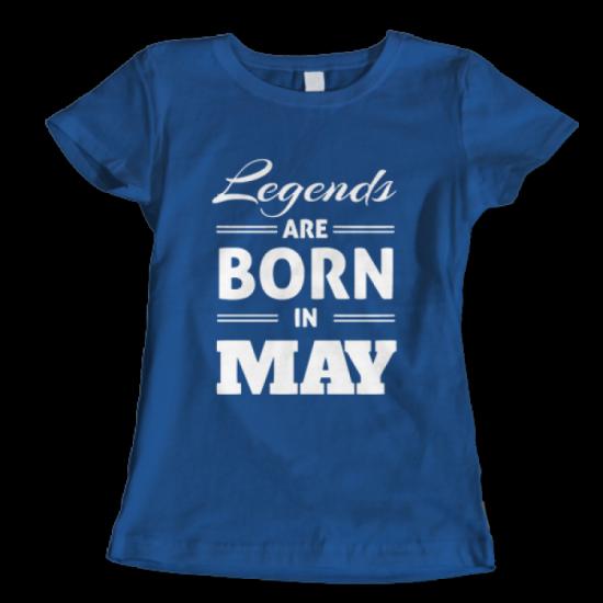 Тениска с щампа Legends May 3