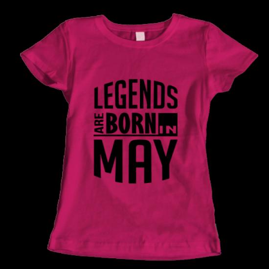 Тениска с щампа Legends May