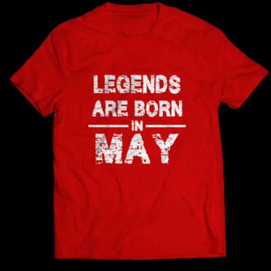 Тениска с щампа Legends May 2
