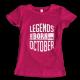 Тениска с щампа Legends October