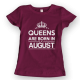 Тениска с щампа Queens August 2