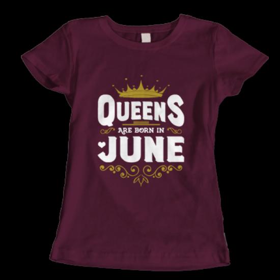 Тениска с щампа Queens June 2