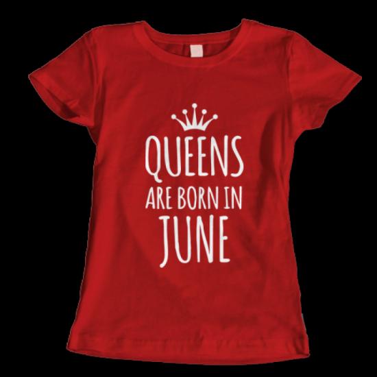 Тениска с щампа Queens June