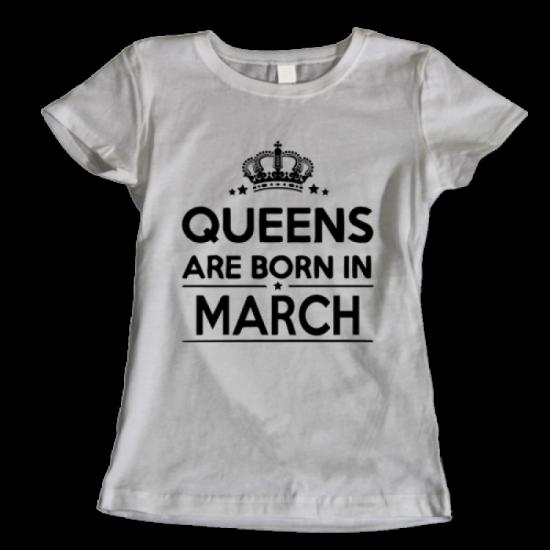 Тениска с щампа Queens March 2