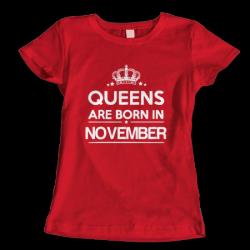 Тениска с щампа Queens November
