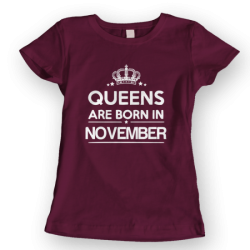 Тениска с щампа Queens November 2