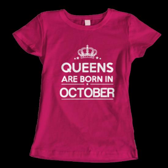 Тениска с щампа Queens October 2