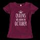 Тениска с щампа Queens October