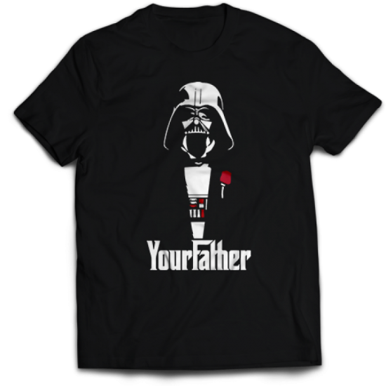 Тениска с щампа YOUR FATHER - DARTH VADER