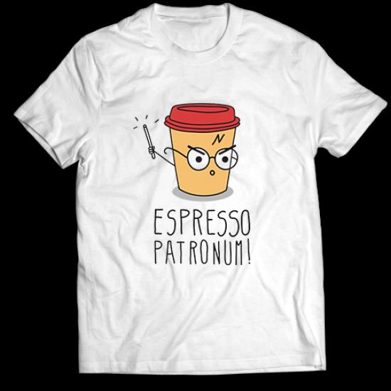 Тениска с щампа Espresso Patronum