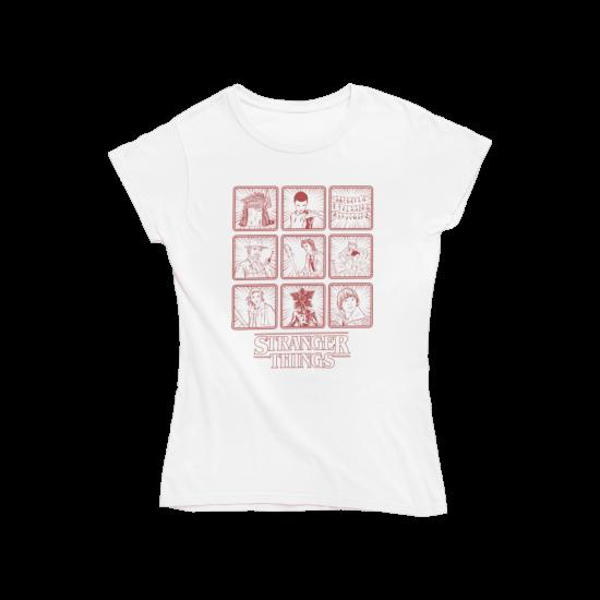 Тениска с щампа Cast Box Up | Stranger Things