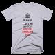 Тениска с щампа Keep Calm and escape the Upside Down | Stranger Things
