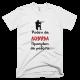 Тениска с щампа Роден да Ловува принуден да работи