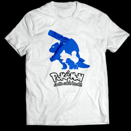 Тениска с щампа SQUIRTLE EVOLUTION POKEMON