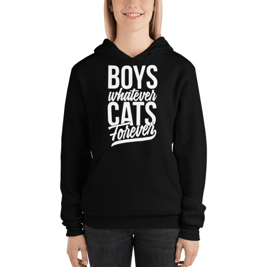Суичър с щампа Boys whatever Cats Forever