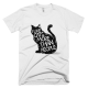 Тениска с щампа I like cats more than people