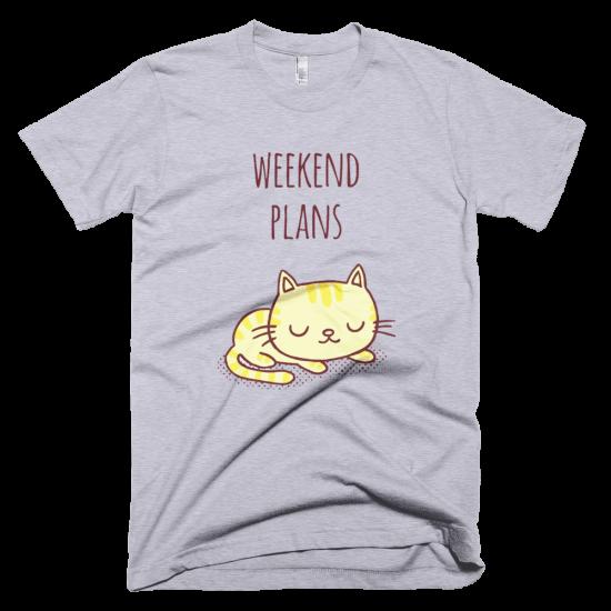 Тениска с щампа Weekend Plans