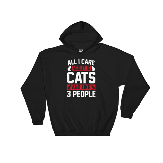 Суичър с щампа All I care about is CATS and like 3 people