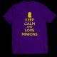 Тениска с щампа KEEP CALM AND LOVE MINIONS