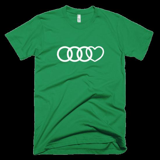 Тениска с щампа Audi Heart