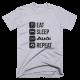 Тениска с щампа Eat Sleep Audi Repeat