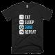 Тениска с щампа Eat Sleep BMW Repeat