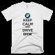 Тениска с щампа Keep Calm and Drive BMW