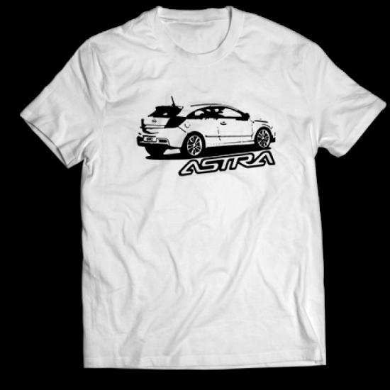 Тениска с щампа Opel Astra GTC