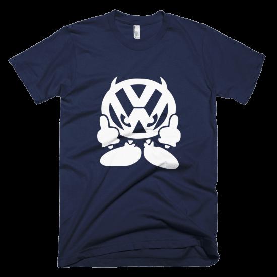 Тениска с щампа Volkswagen Middle finger