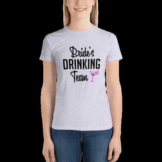 Тениска с щампа Bride's Drinking Team