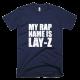 Тениска с щампа My rap name is Lay-Z