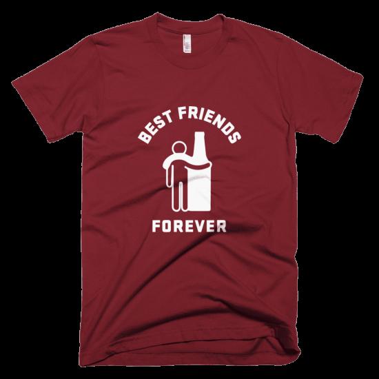 Тениска с щампа Best Friends Forever