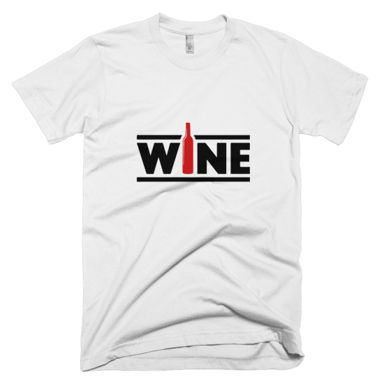 Тениска с щампа Wine