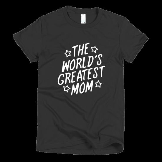 Тениска с щампа The world's greatest Mom