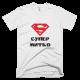 Тениска с щампа Супер Митко