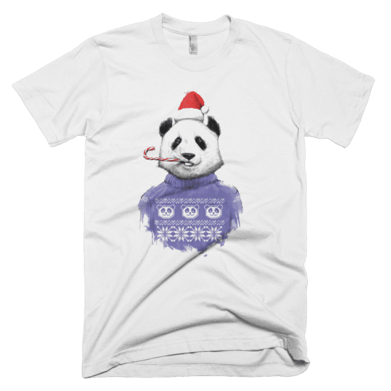 Тениска с щампа Christmas Panda