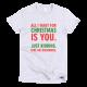 Тениска с щампа All I want for Christmas is Diamonds