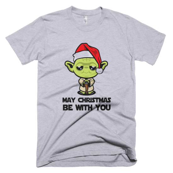 Тениска с щампа May Christmas be with you
