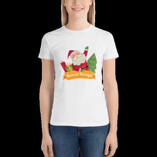 Тениска с щампа Весела Коледа 2