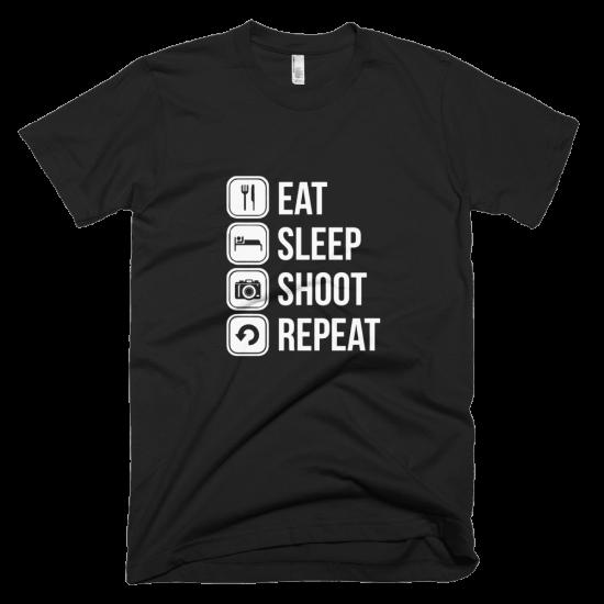 Тениска с щампа Eat Sleep Shoot Repeat