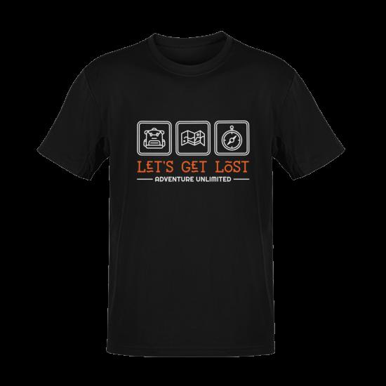Тениска с щампа Adventure Unlimited