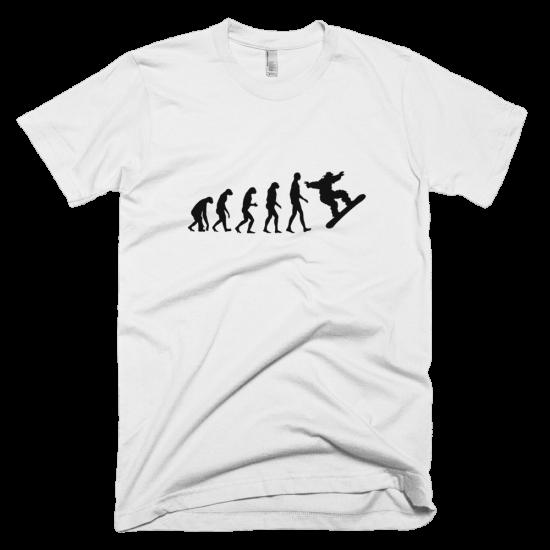 Тениска с щампа Snowboard Evolution