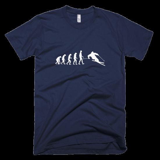 Тениска с щампа Ski Evolution